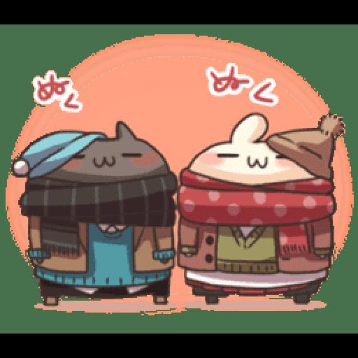 Shiro the rabbit & kuro the cat Part5 - Tray Sticker