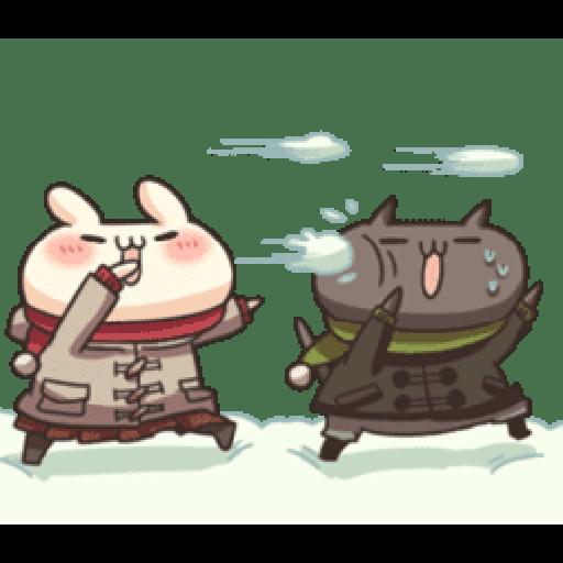 Shiro the rabbit & kuro the cat Part5 - Sticker 5