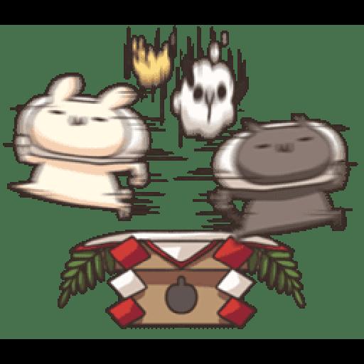 Shiro the rabbit & kuro the cat Part5 - Sticker 28