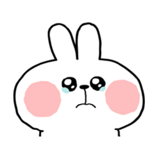 Spoiled Rabbit You-8 - Tray Sticker