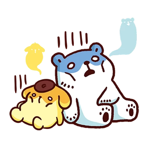 布丁狗×白白日記-2 - Sticker 1