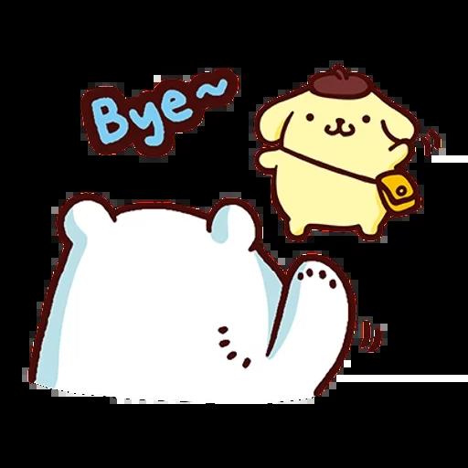 布丁狗×白白日記-2 - Sticker 4