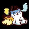 布丁狗×白白日記-2 - Tray Sticker
