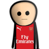 Arsenal - Tray Sticker