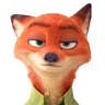 Nick wilde - Tray Sticker