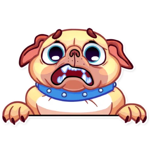 Pugford the Pug - Sticker 5