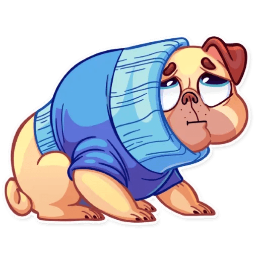 Pugford the Pug - Sticker 25