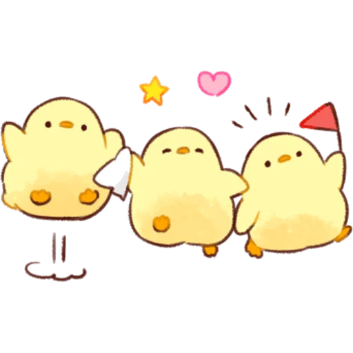 soft and cute chick 01 - Sticker 24