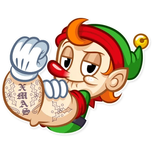 Christmas Elf - Sticker 16