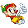 Christmas Elf - Tray Sticker