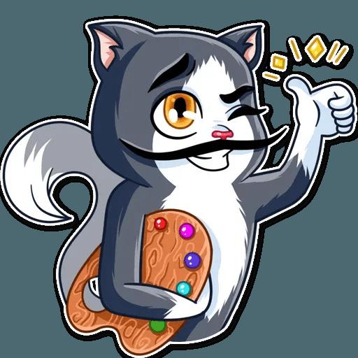 S.Dali_Cat - Sticker 3