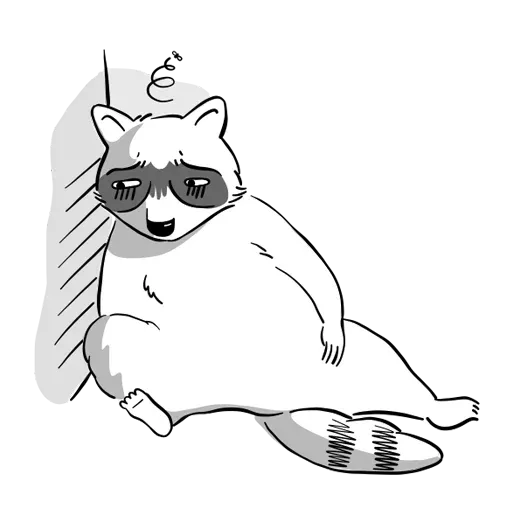 New Raccoon - Sticker 3