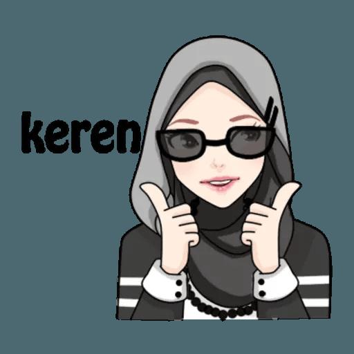 Hijab Gaul @tikelku - Tray Sticker