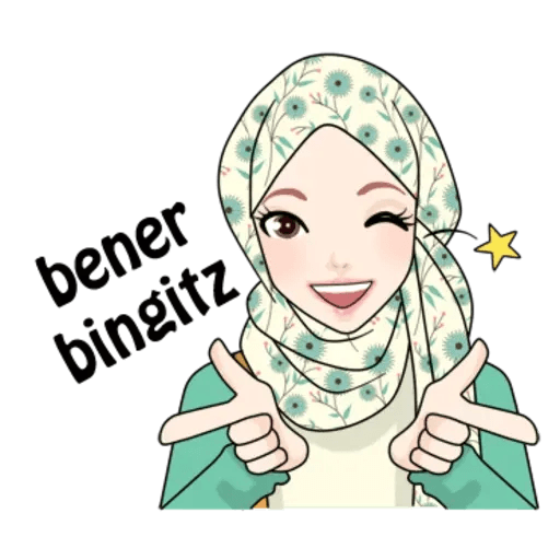 Hijab Gaul @tikelku - Sticker 24