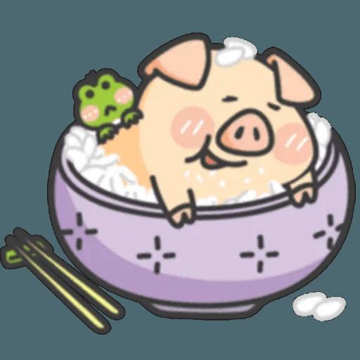 豬與蛙 1 - Sticker 16