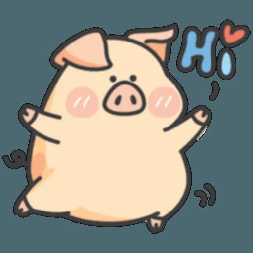 豬與蛙 1 - Sticker 12