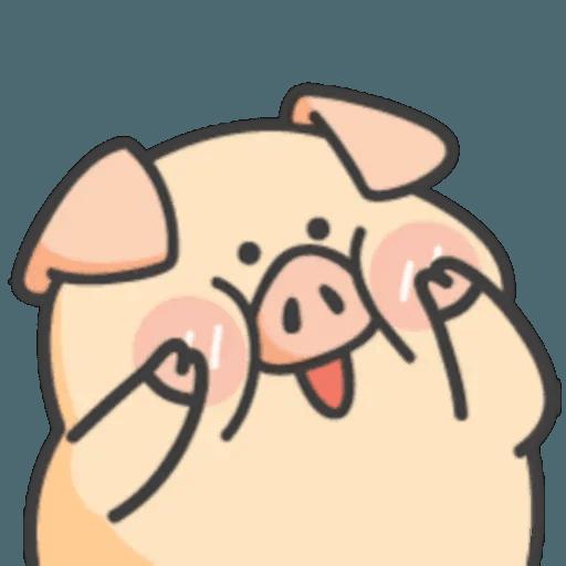 豬與蛙 1 - Sticker 1
