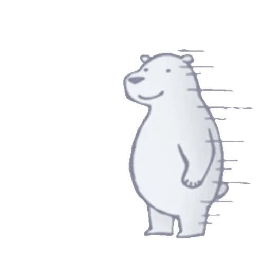 Lazy, kindly polar bear - Sticker 15