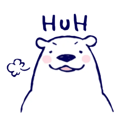 Lazy, kindly polar bear - Sticker 2