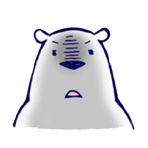 Lazy, kindly polar bear - Sticker 3