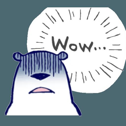 Lazy, kindly polar bear - Sticker 9