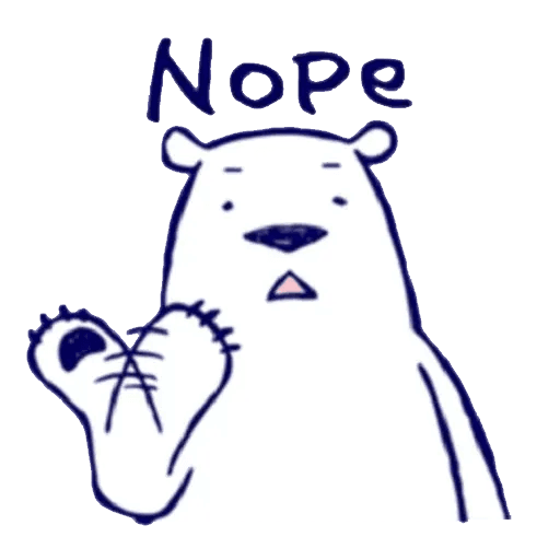 Lazy, kindly polar bear - Sticker 7