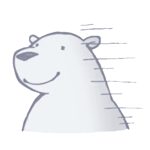 Lazy, kindly polar bear - Sticker 14