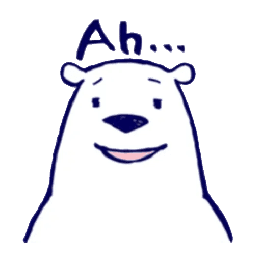 Lazy, kindly polar bear - Sticker 4