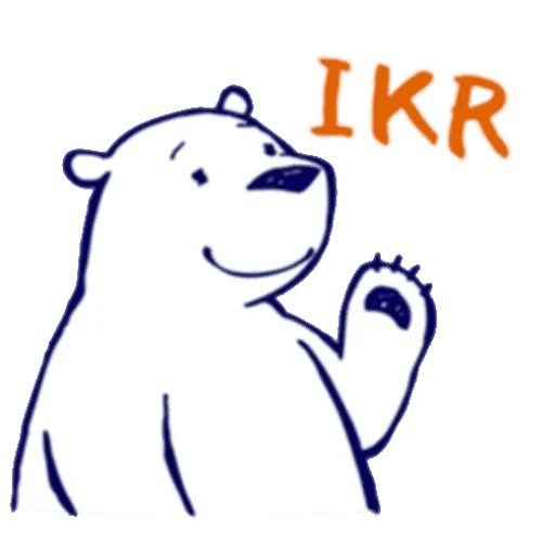 Lazy, kindly polar bear - Sticker 19