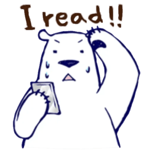 Lazy, kindly polar bear - Sticker 25
