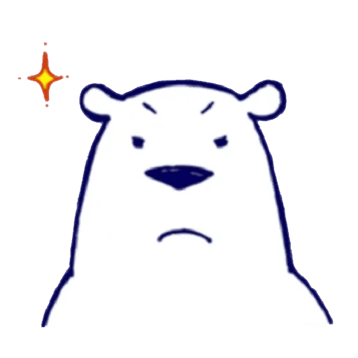 Lazy, kindly polar bear - Sticker 6