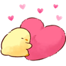 soft and cute chick 12 - Tray Sticker