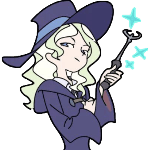 Little Witch Academia 2 - Tray Sticker