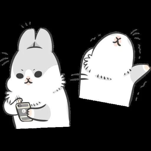 ㄇㄚˊ幾兔7 surprise, 無奈 - Sticker 11