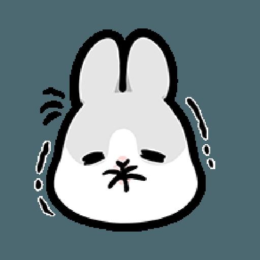ㄇㄚˊ幾兔7 surprise, 無奈 - Sticker 24
