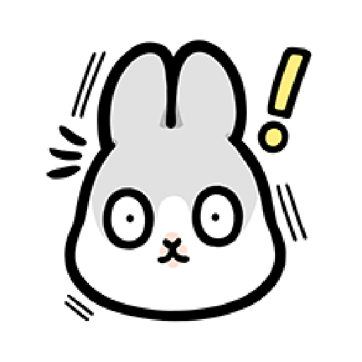 ㄇㄚˊ幾兔7 surprise, 無奈 - Tray Sticker