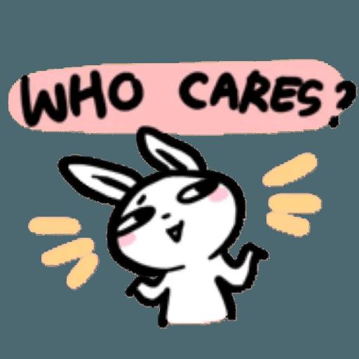 如果是兔子的話就可以消極冗廢又性格很差1 - Sticker 7