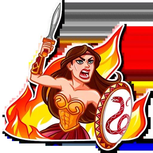 Warrior Queen - Sticker 18
