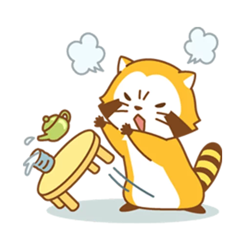 Happy Raccoon - Sticker 3