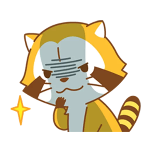 Happy Raccoon - Sticker 5