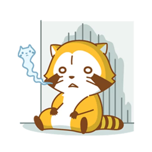 Happy Raccoon - Sticker 4