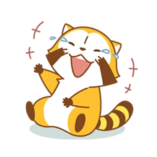 Happy Raccoon - Sticker 14