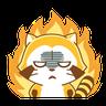 Happy Raccoon - Tray Sticker