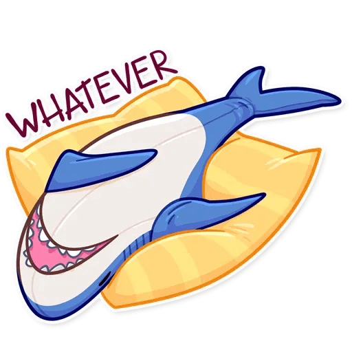 Blahaj - Tray Sticker