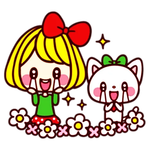 Girl and cat - Sticker 21