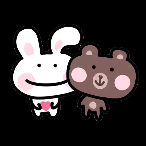 BU兔Bi熊 - Sticker 1