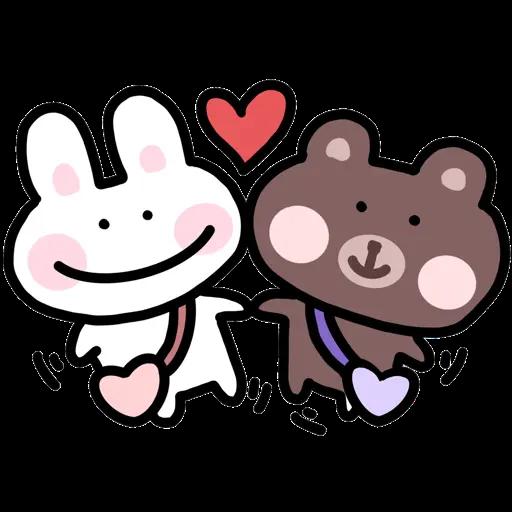 BU兔Bi熊 - Sticker 2