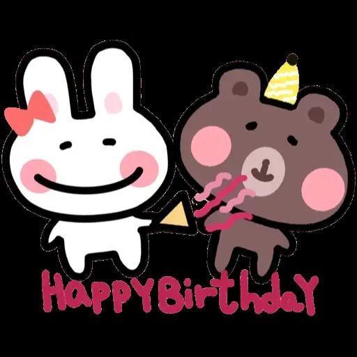 BU兔Bi熊 - Sticker 4