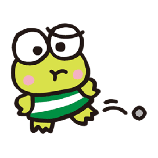 Keroppi 3 - Tray Sticker