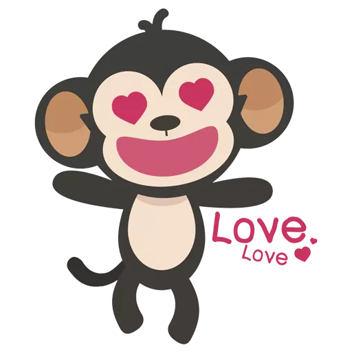 MONKEY MONKEY  - Tray Sticker
